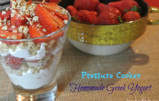Pressure Cooker Greek Yogurt