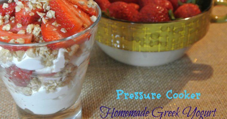 Pressure Cooker Greek Yogurt
