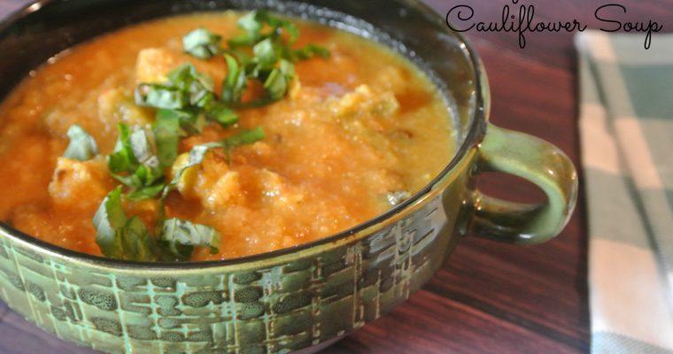 Curry-Roasted Cauliflower Soup