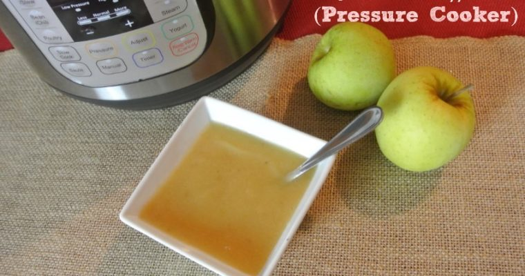 Easy Homemade Applesauce with Pressure Cooker