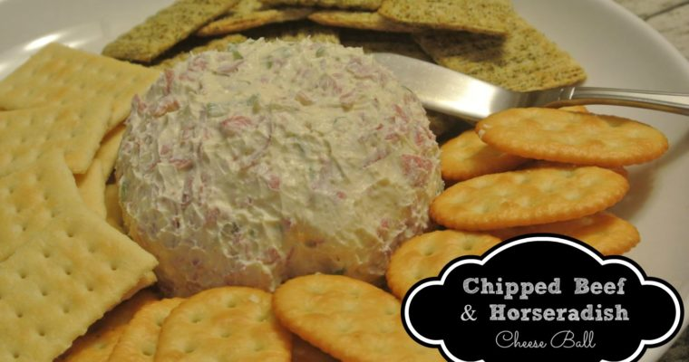 Chipped Beef & Horseradish Cheese Ball