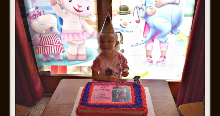 Doc McStuffins Birthday Party {Happy 3rd Birthday, Addison}