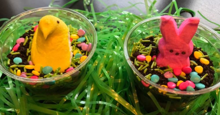 Easter Peeps Dirt Cups