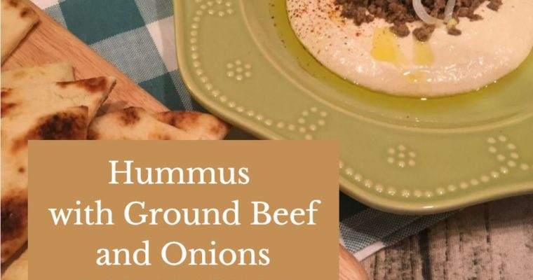 Hummus Recipe with Ground Beef and Onions