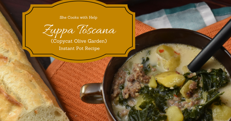 Zuppa Toscana Instant Pot Recipe {CopyCat from Olive Garden)