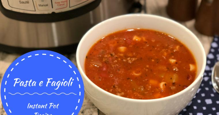 Pasta e Fagioli {Instant Pot/Pressure Cooker Recipe}