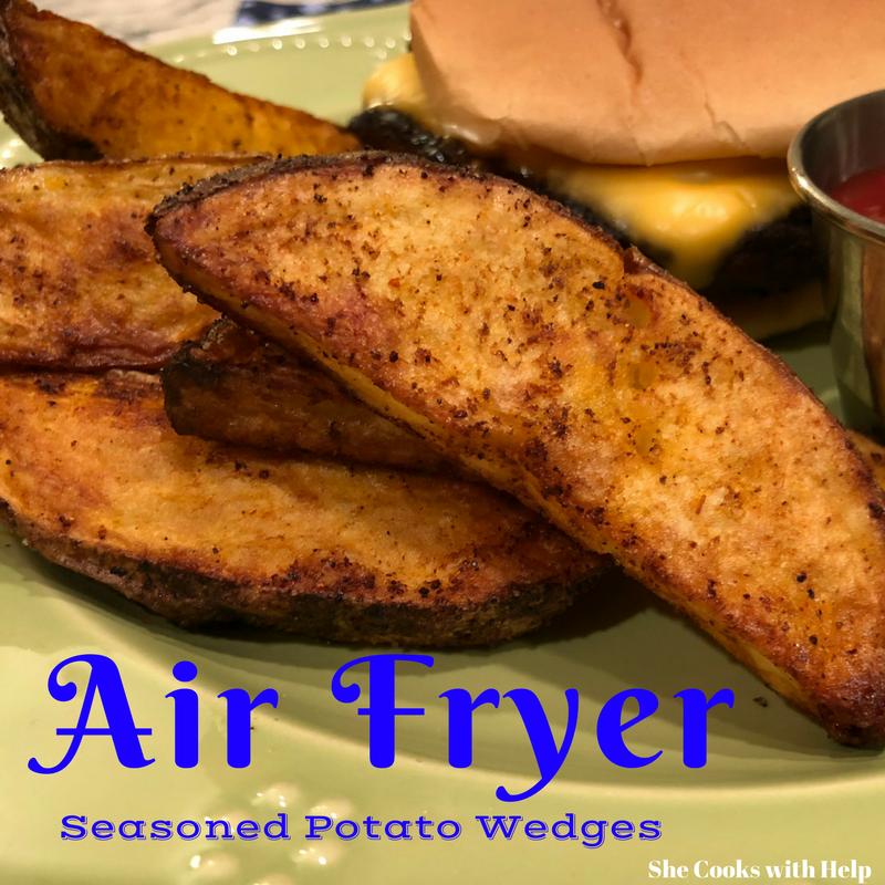Seasoned Crispy Potato Wedges Air Fryer Recipe She